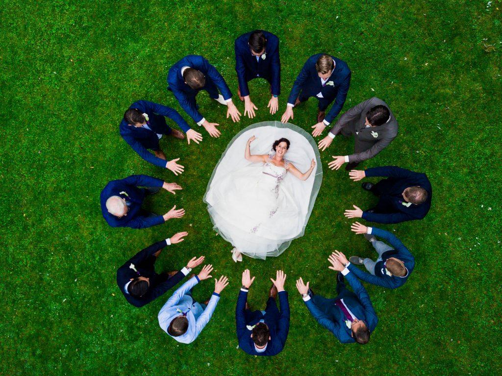 bruidsfotografie met drone